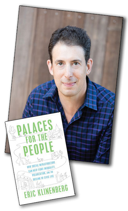 "Photo of Eric with his book ""Palaces for the People"""